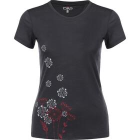 CMP Campagnolo T-shirt imprimé à manches longues Femme, antracite